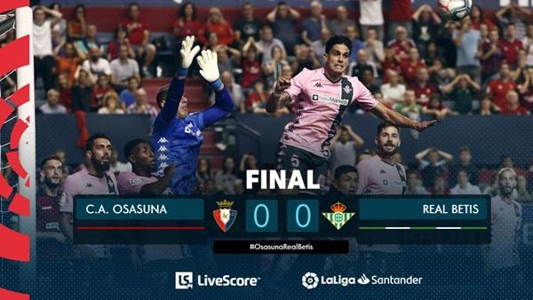 โอซาซูนา ยิงแม่นคาน เจ๊า เบติส 0-0 ไร้พ่าย 5 เกมรวด